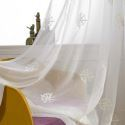 Modern Sheer Curtain Breathable Star Embroidery Curtain Living Room Curtain (One Panel)
