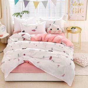 Skin-friendly Bedding Set Environmentally Friendly Forest Bedclothes Pure Cotton 4pcs Duvet Cover Set