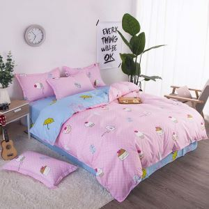 Cappuccino Dessert Bedding Set Soft Skin-friendly Bedclothes Pure Cotton 4pcs Duvet Cover Set