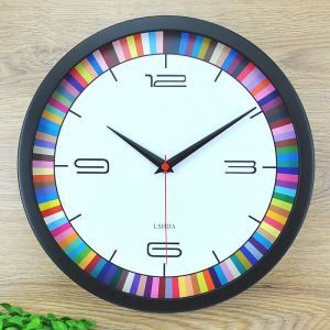 Creative Metal Frame Wall Clock Circle Shape Mute Wall Clock Wall Decor Clock CT CD