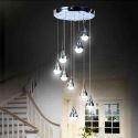 Modern Simple Acrylic LED Pendant Light 9-light Ceiling Lights Energy Saving