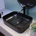 Simple Black Basin Modern Rectangle Bathroom Vessel Sink(without Faucet)