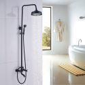 Rainfall Shower Fixture ORB Wall Mount Bathroom Shower Faucet