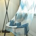 Nordic Simple Sheer Curtain Wavy Pattern Printed Curtain Living Room Curtain (One Panel)