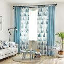 Nordic Semi Blackout Curtain Triangle Printed Curtain Living Room Curtain (One Panel)