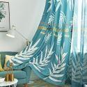 Nordic Semi Blackout Curtain Banana Leaf Printed Curtain Living Room Curtain (One Panel)