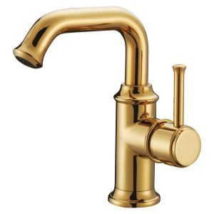 Toilet Single Level Gold Finish Basin Faucet