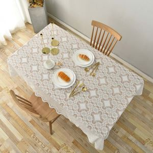 Korean Style Tablecloth Fresh Lace Jacquard Tablecloth Modern Fashion Tablecloth