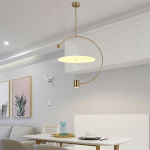 Modern LED Pendant Light Creative Round Shape Lamp Simple Warmth Lighting Bedroom Dining Room Light QM1828