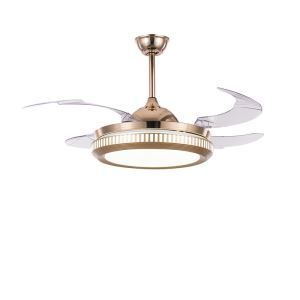 Modern LED Ceiling Fan Light Invisible Retractable Chandelier Fan Light With Remote Control Living Room Lamp QM8138