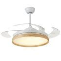 Modern LED Ceiling Fan Light Invisible Retractable Chandelier Fan Light With Remote Control Living Room Lamp QM8171