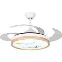 Modern Ceiling Fan with LED Light Invisible Retractable Remote Control QM8172