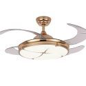 Modern Ceiling Fan with LED Light Invisible Retractable Remote Control QM8167