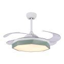 Modern Ceiling Fan with LED Light Invisible Retractable Remote Control QM8168