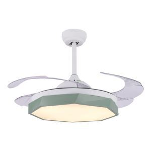 Modern LED Ceiling Fan Light Invisible Retractable Chandelier Fan Light With Remote Control Living Room Lamp QM8168