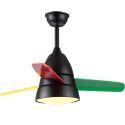 Mini Ceiling Fan with Light 3 Blades Remote Control QM1100