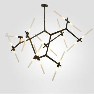 Contemporary Simple Chandelier Aluminium Alloy Spray Painting Pendant Light Creative Branch Pendant Light