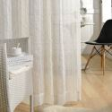 Vertical Stripes White Voile Sheer Curtain (One Panel)