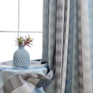 Thicken Max Blackout Curtain Geometric Jacquard Curtain Living Room Curtain (One Panel)