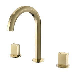 Luxury Basin Faucet Modern Gold Bathroom Sink Tap Bathtub Faucet With Dual Handles