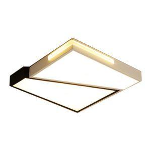 Modern LED Flush Mount Geometric Ceiling Lamp Black White Light Living Room Bedroom Lighting 8118
