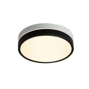 Contemporary LED Flush Mount Black and White Ceiling Light Round Home Lighting Bedroom Study Room CL8028