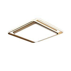 Modern Simple LED Flush Mount Geometric Ceiling Light Square Frame Lamp Living Room Bedroom Light 8163