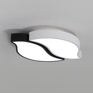 Modern LED Flush Mount Black White Frame Ceiling Light Creative Artistic Lamp Living Room Bedroom Light 8167