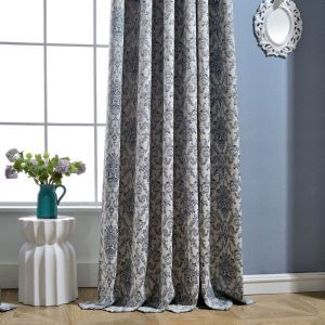 Retro Max Blackout Curtain European Enbroidery Curtain Bedroom Curtain (One Panel)