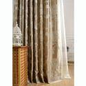 European Luxury Max Blackout Curtain Peony Flower Curtain Bedroom Curtain (One Panel)