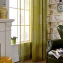 Semi Blackout Curtain Compass Embroidery Curtain Living Room Bedroom Curtain (One Panel)