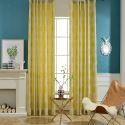 Simple Max Blackout Curtain Flower Stamen Jacquard Curtain Bedroom Curtain (One Panel)