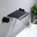 Bathroom Sink Faucet Waterfall Wall Mount Basin Tap