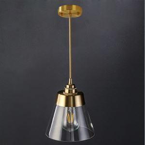 Nordic Retro Pendant Light Glass Shade Home Lighting Brass Holder Lamp Dining Room Bedroom Hallway Light DK313