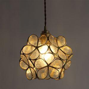 Nordic Creative Pendant Light Glass Home Lighting Petal Shape Lamp Dining Room Kids Room Bedside Lamp RN8899