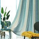 Semi Blackout Curtain Colorful Stripes Printed Curtain Bedroom Living Room Curtain (One Panel)