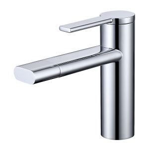 Bathroom Sink Faucet Modern Basin Tap Rotatable Spout Chrome/Black
