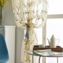 Fresh Sheer Curtain Ventilate Flower Embroidery Curtain Living Room Curtain (One Panel)
