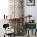 Nordic Sheer Curtain Luxury Breathable Embroidery Curtain Living Room Curtain (One Panel)