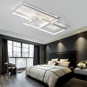 Modern Rectangles LED Ceiling Light Fashional Square Ceiling Light Bedroom Study Light