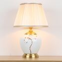 Modern Table Lamp Hand Drawn Pattern Desk Lamp Creative Ceramic Lighting Living Room Study Light HY050