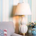 Modern Stylish Table Lamp Ceramic Gourd Shape Lamp Creative Lighting Living Room Bedroom Study Light HY104