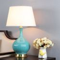 Large Ceramic Teal Table Lamp for Living Room HY070