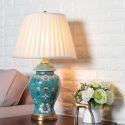 Blue Boho Table Lamp Ceramic Glaze Living Room Bedroom Lamp HY065