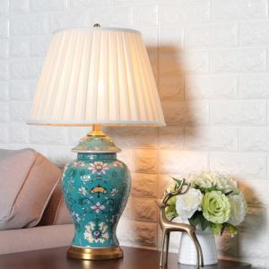 Modern Table Lamp Creative Desk Light Chinese Ceramic Glaze Light Living Room Bedroom Lamp HY065