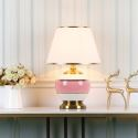 Modern Simple Table Lamp Ceramic Base Light Desk Lamp Bedroom Living Room Lighting HY049