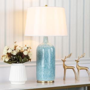 Contemporary Table Lamp Simple Desk Light Ceramic Glaze Base Lamp Living Room Bedroom Light HY103