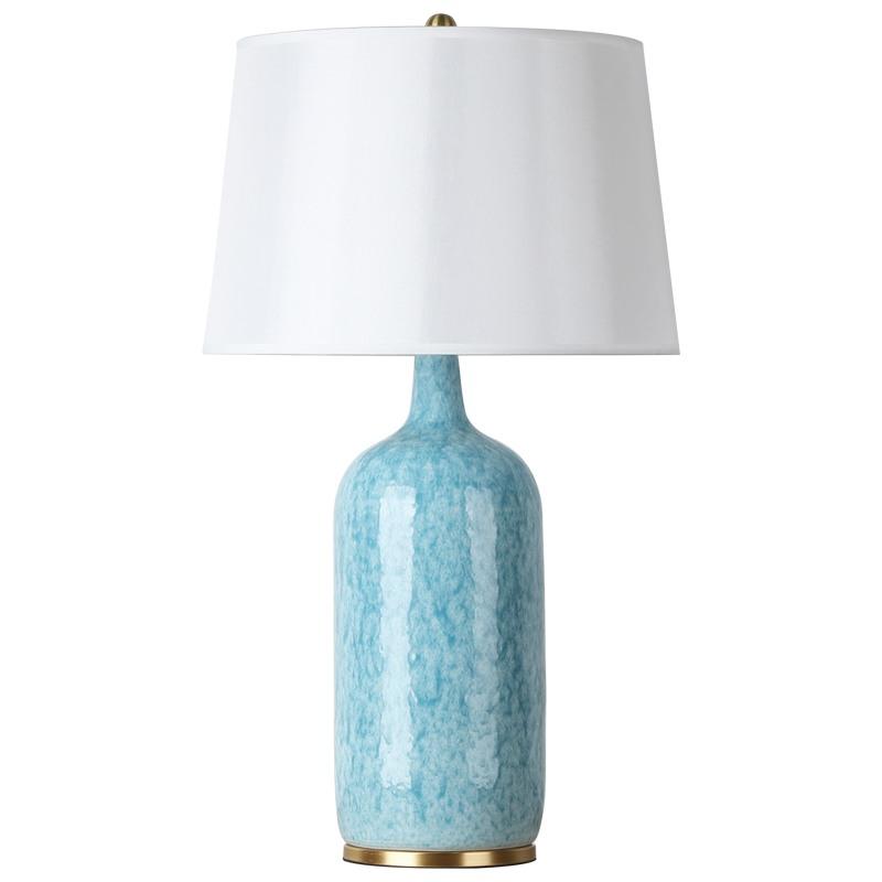 Contemporary Table Lamp Simple Desk Light Ceramic Glaze Base ...