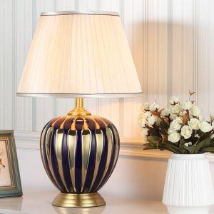 Contemporary Table Lamp Ceramic Base Desk Light Elegant Lamp Bedroom Study Light HY111