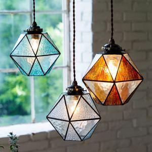 Retro Creative Pendant Light Mediterranean Lamp Glass Shade Living Room Dining Room Hallway Light  NTDBL0221B